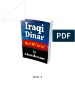 Iraqi Dinar Real RV Intel by Adam Montana v 1.5