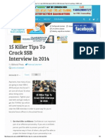 15 Killer Tips to Crack SSB Interview in 2014 _ SSB Interview Tips & Coaching _ SSBCrack