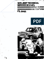 Front Cover of Jeep Technical Service Manual