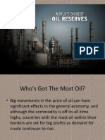 Biggest Oil Reserves in the world