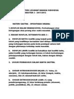 Rangkuman Materi Lengkap Bahasa Indonesia Kelas 8