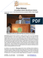Press Release on Pakistan and Sudan Leading in Islamic Microfinance Industry
