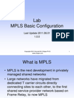 MPLS Lab With Basic Configuration