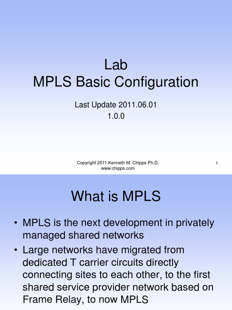 MPLS Lab With Basic Configuration | Multiprotocol Label