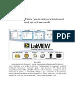 Suport PrezentareUtilizarea LabView pentru simularea functionarii  unei microhidrocentrale