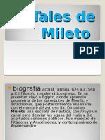 Tales de Mileto Anaximandro Pitagoras Heraclito Jenofanes de Colofon.