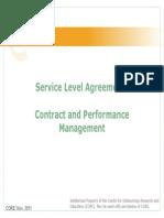 SLAs in BPO Agreements