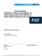 IEEE Guide for Sunchronizations, Calibration, Testing, And Installation of PMUs for Power System Protection and Control