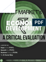 debt market's role in economic development, a critical evaluation