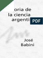 Babini Jose - Historia de La Ciencia Argentina [PDF]