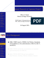 Capstone and Thesis Standard Documentation
