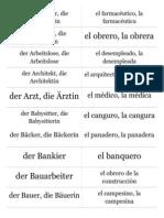 Profesiones en Alemán - Beruf