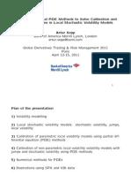 Global Derivatives 2011