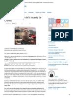 Conozca la VERDAD de la muerte de Chávez ~ Anonymous Iberoamérica