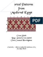 Charted Patterns from Medieval Egypt - Cross Stitch, Long-Armed Cross Stitch, Counted Herringbone