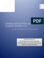 General Agriculture and Current Affairs-2013