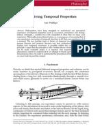 Perceiving Temporal Properties