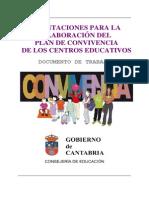 Orientaciones Plan de Convivencia Centros Educativos