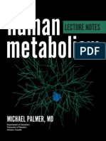 Lecture notes on human metabolism