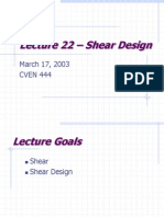 Design for Shear