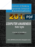 Computer Awareness MCQs Book for Bank Exams and IBPS Free Download