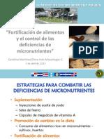 Fortificación de Alimentos y El Control de Las Deficiencias de Micronutrientes Abril 2013