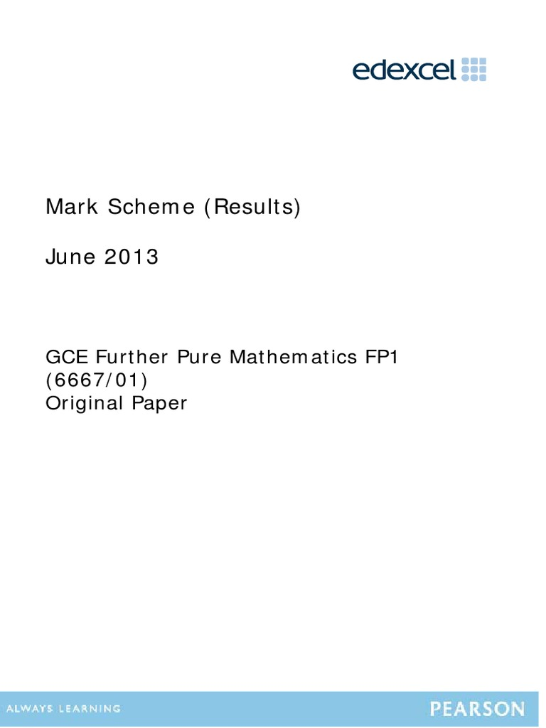 OCR 21st century science foundation mark scheme?