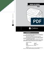 Manual Panificadora Cadence