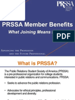 PRSSA Member Benefits PPT 2014