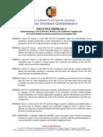 XU-CSG Executive Order 003-1415
