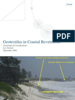 Geotextiles in Coastal Revetments