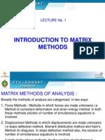 Matrix Methods of Analysis