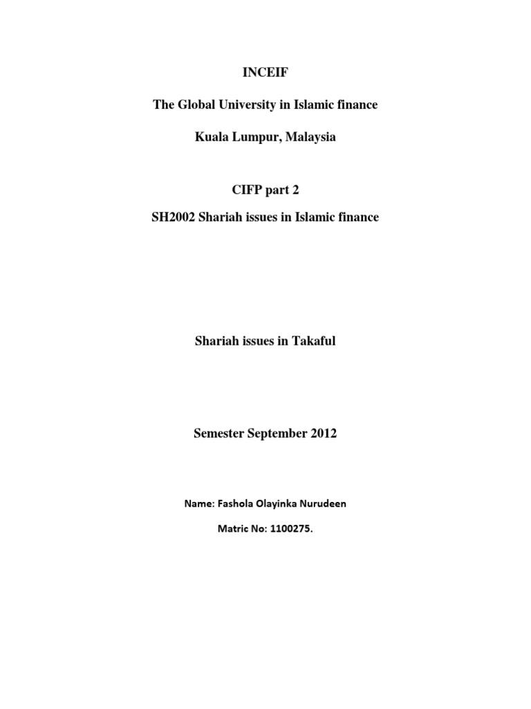 shariah issues in islamic finance