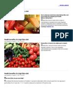 Health Benefits of a High Fibre Diet - Rediff