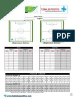 Formulario Para Partidos Fútbol en Positivo