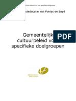 Opdracht Gemeentelijke Cultuureducatie-beleid Voor Doelgroepen-2009