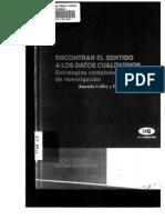Coffey, A. & Atkinson, P. (2003) Encontrar El Sentido a Los Datos Cualitativos. Cap 3 Narrativas y Relatos