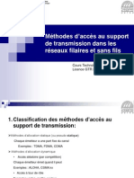 METHODE D ACCESS AU SUPPORT DE TRANSMISSION FILAIRES ET SANS FIL 2013.pptx