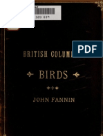 1891 Checklist Of British Columbia Birds