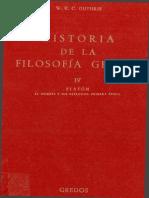 Guthrie W K C - Historia de La Filosofia Griega IV Platon El Hombre Y Sus Dialogos Primera Epoca