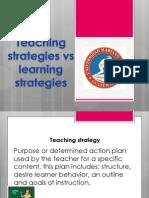 learning strategies vs teaching strategies umg ttii 2