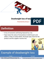 Deadweight Loss Presentation by Grp 3