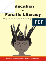 Education vs Fanatic Literacy