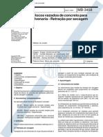 NBR 12117_91 (MB-3458) - CANC - Blocos Vazados de Concreto Para Alvenaria - Retração Por Secagem - 5pag