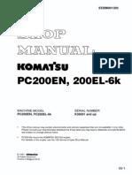 Komatsu Pc200en Pc200el-6