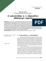 A Psicanálise e o Dispositivo Diferença Sexual