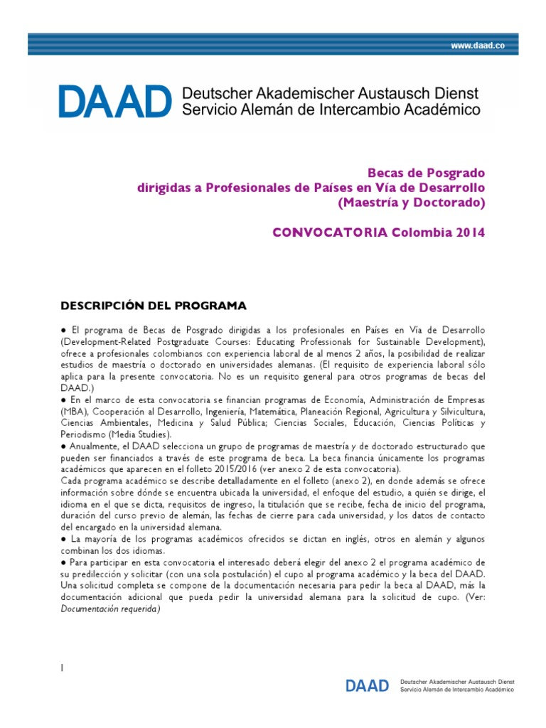 DAAD 2014 | Test (Assessment) | Secondary Education