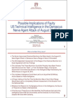 Possible Implications of Faulty US Technical Intelligence in the Damascus Nerve Agent Attack of August 21, 2013