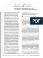 Emotional dysregulation and negative afffect