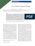 Galtier Et Al, 2009_Mitochondrial DNA as a Marker of Molecular Di